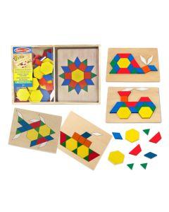 Legespiel Mosaik aus Holz 120 Formen