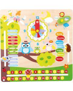 Kalenderuhr für Kinder aus Holz