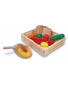 """Holz Lebensmittel """"Essbares"""" zum Schneiden  29 Teile"""