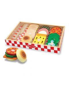 Sandwich Set aus Holz