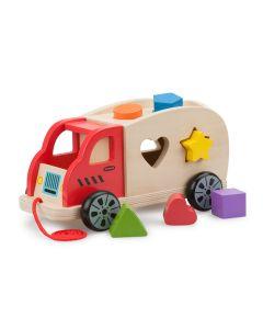 Sortierspiel-Holzauto