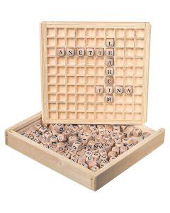 Wörter legen Lernspiel aus Holz