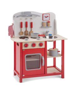 New Classic Toys Kinderküche Bon Appetit Holz Rot