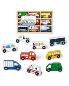 Spielzeugautos Holz im Set