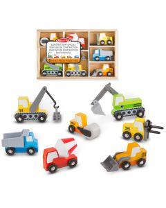 Holzautos für die Baustelle