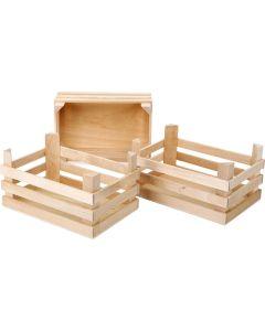 Holzkisten im 3er Set
