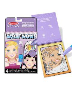 Malbuch mit Wasser zum Thema Makeup