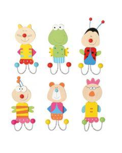 """Wandhaken """"Tiere"""" für Kinder"""