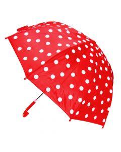 Regenschirm rot mit Punkten 70 cm