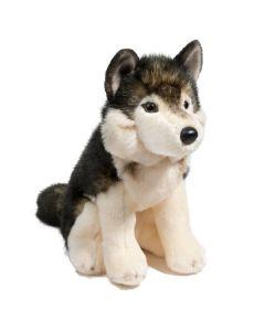 Wolf Atka Kuscheltier braun beige sitzend 28 cm