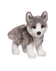 Stofftier Husky grau-weiss in klein