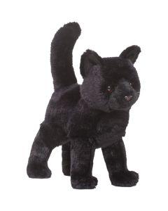 stehende schwarze Stofftier-Katze