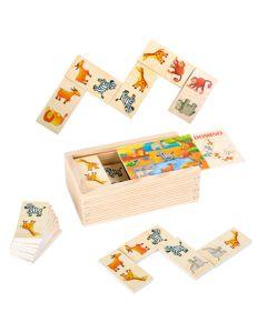"""Domino """"Safari"""" aus Holz im Kästchen"""