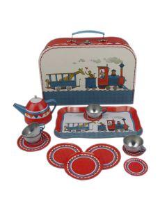 Spiel-Teeset Eisenbahn aus Metall