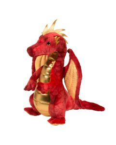 Eugene Kuscheltier Drache rot 25 cm sitzend