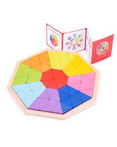 Mosaik Puzzle Oktagon aus Holz 30 cm