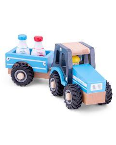Spielzeug-Traktor klein aus Holz
