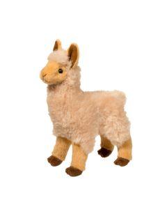 kleines Stofftier Lama stehend