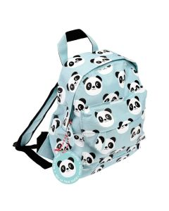 kleiner Rucksack hellblau Im Panda-Design