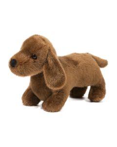 Kleiner brauner Plüschhund Dackel