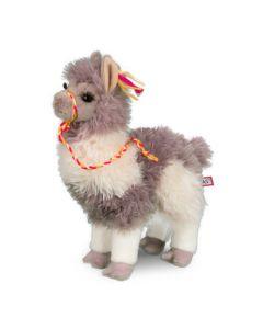 stehendes Stofftier Lama in Beige und Braun