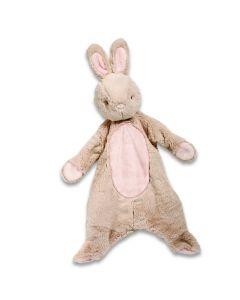 Schmusetier Hase in Braun mit rosafarbenen Akzenten