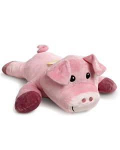 großes Plüsch-Schwein in Rosa
