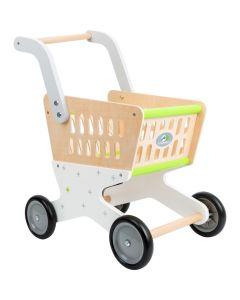 Spielzeug-Einkaufswagen aus Holz