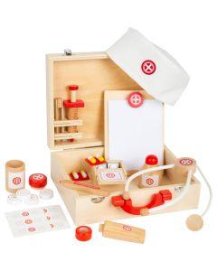 Holz-Arztkoffer für Kinder mit viel Zubehör