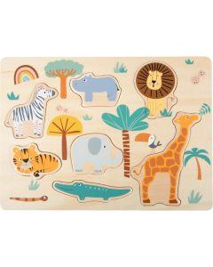Einlegepuzzle Safari aus Holz