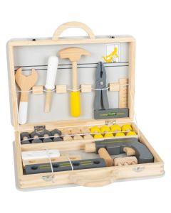 Spiel-Werkzeugkoffer mit Holzwerkzeug