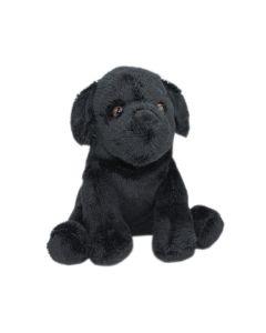 Mini Stofftier Labrador Hund in Schwarz
