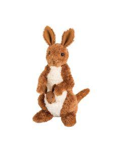 kleines Kuscheltier Känguru mit Baby im Beutel