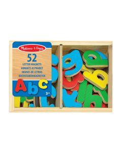 52 magnetische Holzbuchstaben