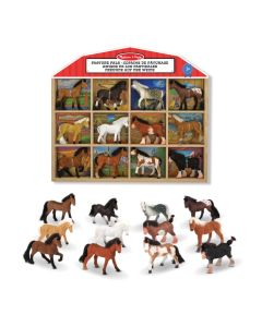 Pferde Spielzeug-Figuren-Set im Holzkasten