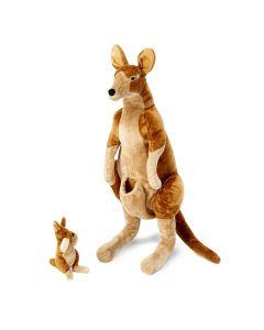 großes stehendes Plüsch-Känguru mit Baby