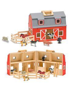 Spielzeugscheune inkl. Tiere und Zaun
