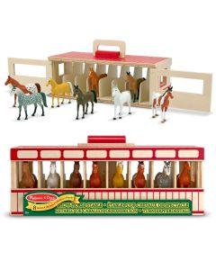 Spielzeug-Stall für Pferde