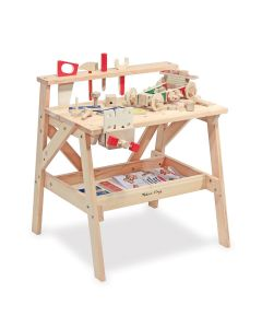 massive Werkzeugbank für Kinder mit Zubehör