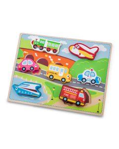 Holzpuzzle Fahrzeuge - extra  große Puzzleteile