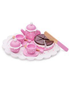 Puppen-Teeservice auf Tablett