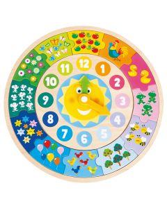 Holzspielzeug Puzzle Uhr