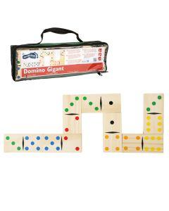 Gesellschaftsspiel Domino mit extra großen Holz-Spielsteinen