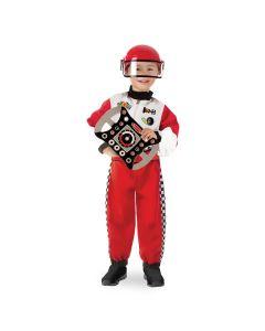 Rennfahrer Kostüm in Rot