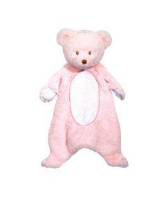 rosafarbener Schmuse-Bär für Babys