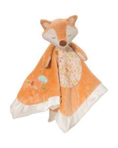 Schnuffeltuch Fuchs aus weichem Plüsch mit Satin-Umrandung