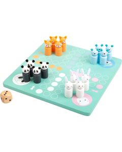 Ludo Kinderspiel in Pastell mit Tieren