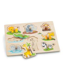 Holz-Steckpuzzle mit Dschungeltieren