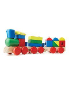Bauklötze-Zug aus Holz