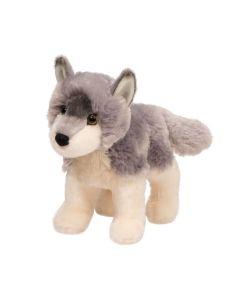 kleiner Stofftier Wolf in Grau-Beige